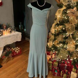 Windsor Off the Shoulder Mermaid Dress
